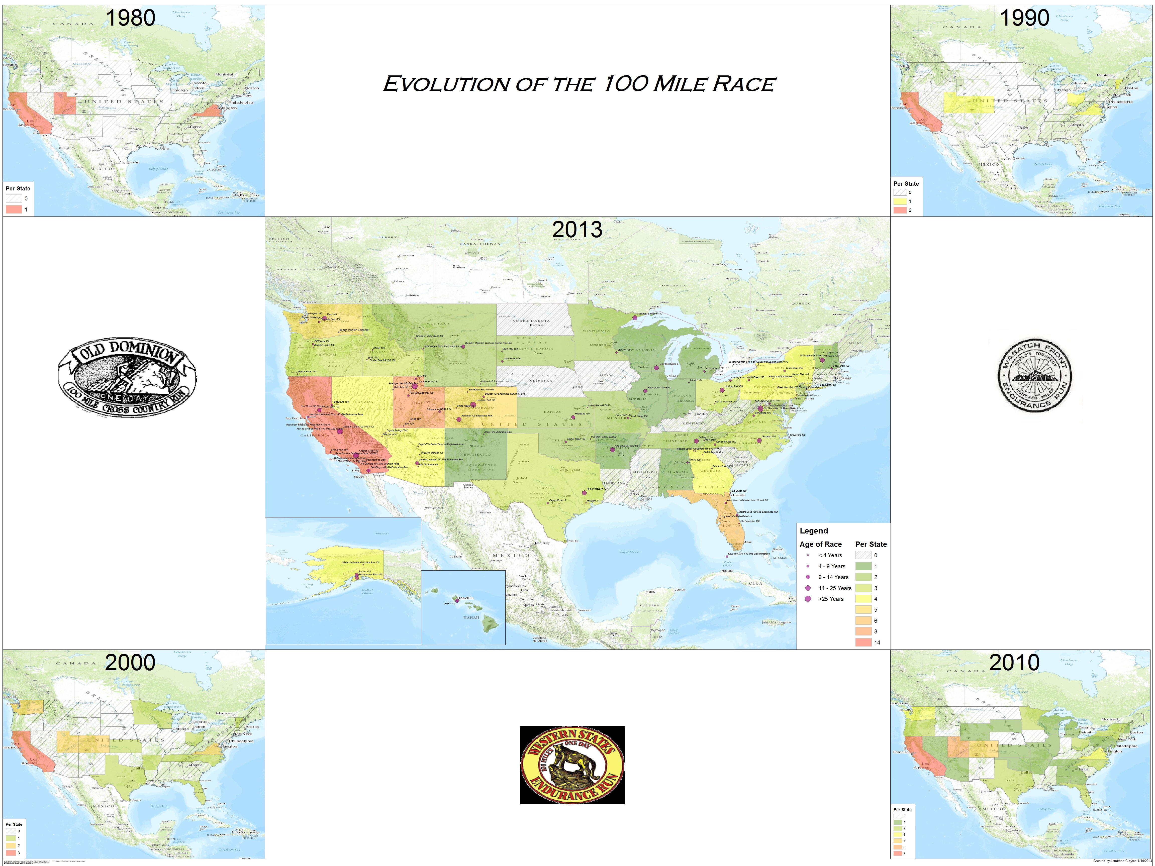 Growth Of 100 Miler Races In The Us