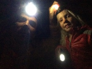 Deep underground in the lava tubes.