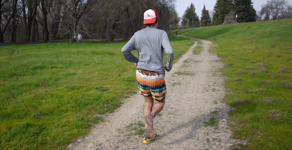 Do these crocheted running shorts make my butt look big?