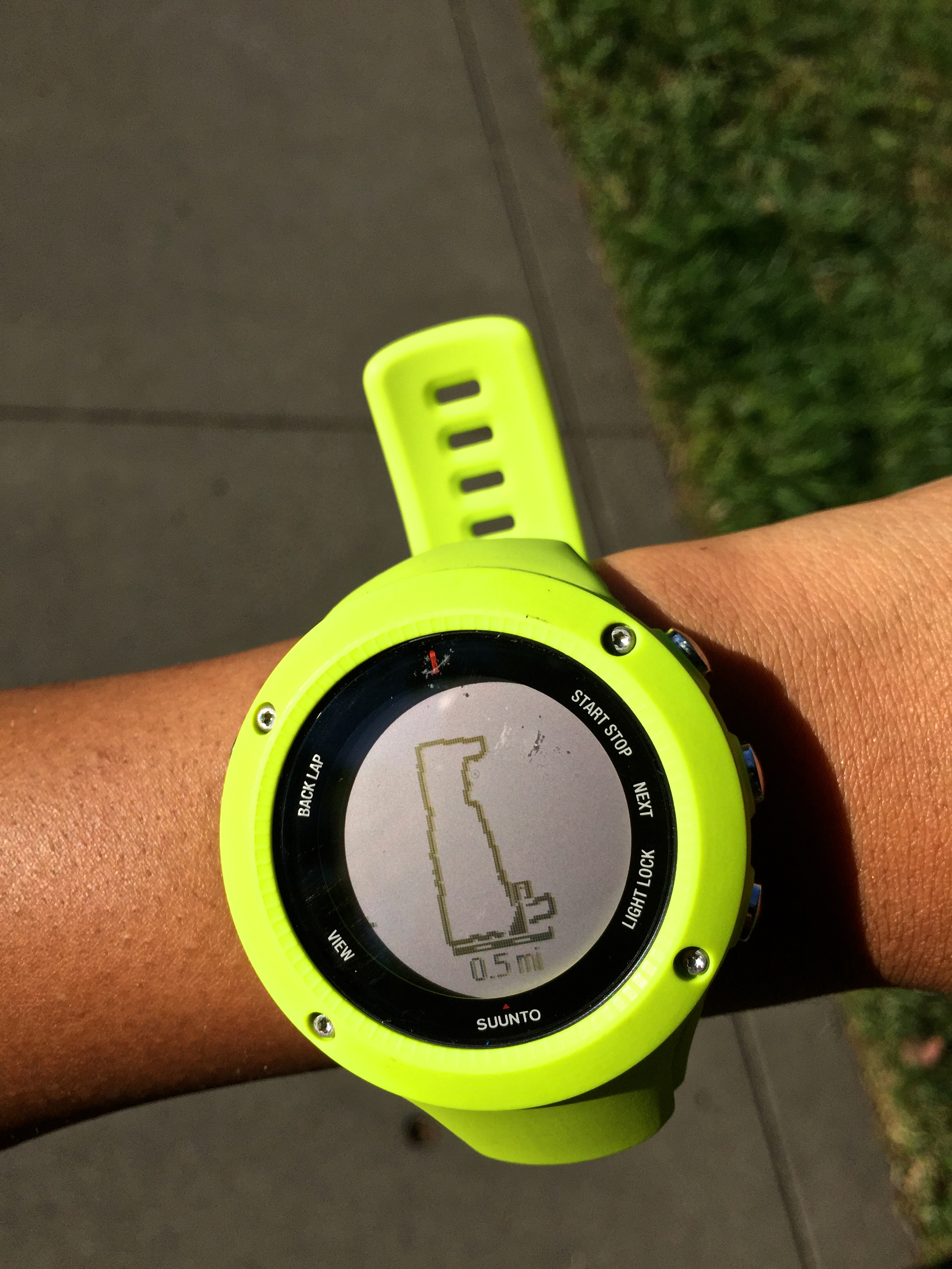 Watch with wrist hrm - Downloaded Route Navigation