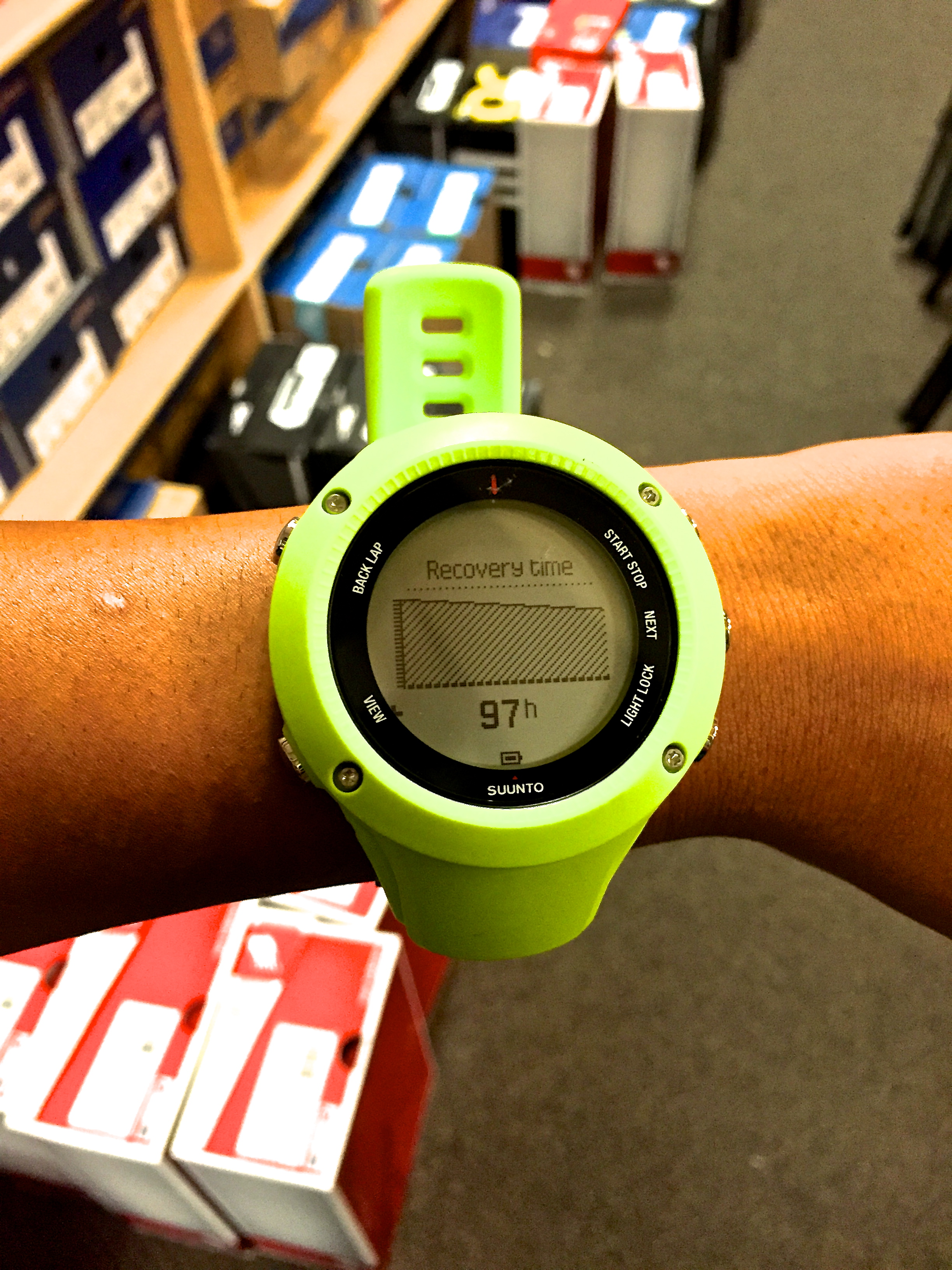 Watch with wrist hrm - Recovery Time