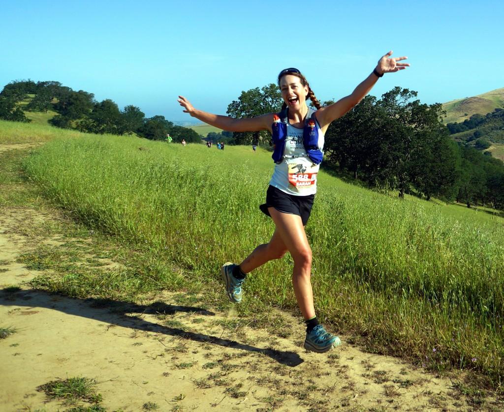 Sarah running Mt Diablo