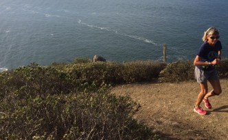 That's my mom (66yo) crushing it on the Coastal Trail in Marin Headlands on Saturday.