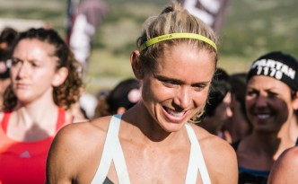 Amelia Boone at start of Spartan Race. Used with permission.