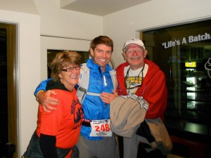 Pic with parents before race