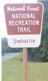 Uwharrie Trail Sign