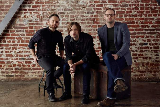 Death Cab for Cutie promo shot. Ben Gibbard in center.