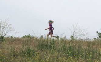 That's my daughter Sunny on our little trail run this past weekend.