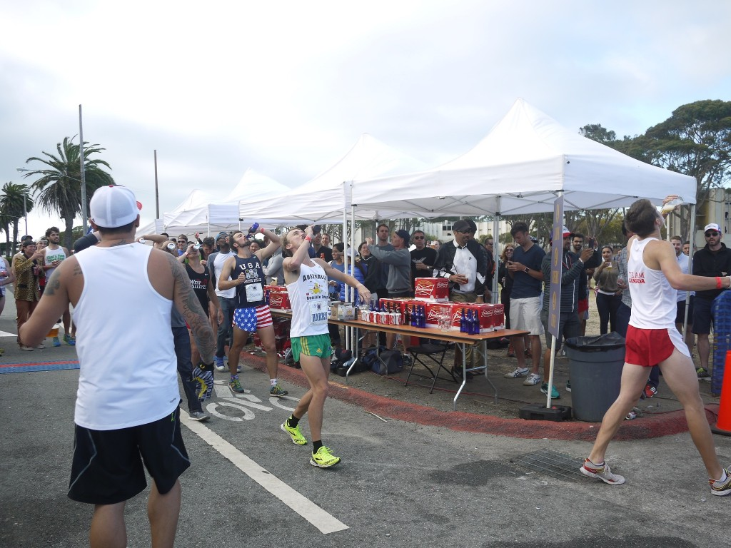 Elite field at World Championship Beer Mile