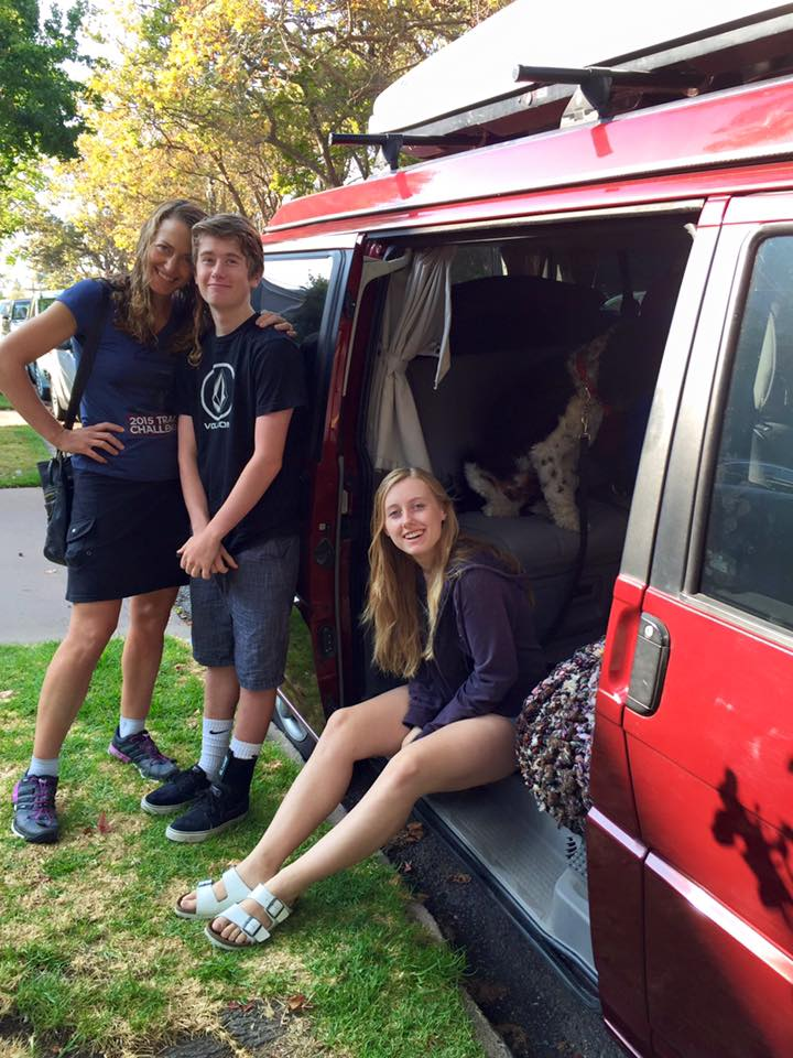 Sarah moving her kids Kyle (14) and Colly (17) into Thacher Boarding School in Ojai.