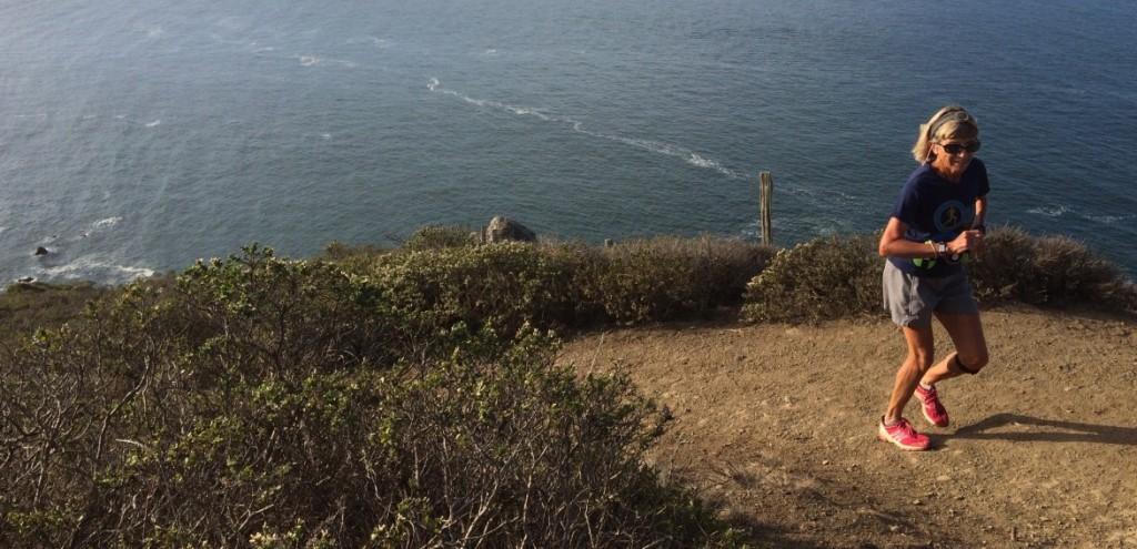 That's my mom (66yo) crushing it on the Coastal Trail in Marin Headlands on Saturday.
