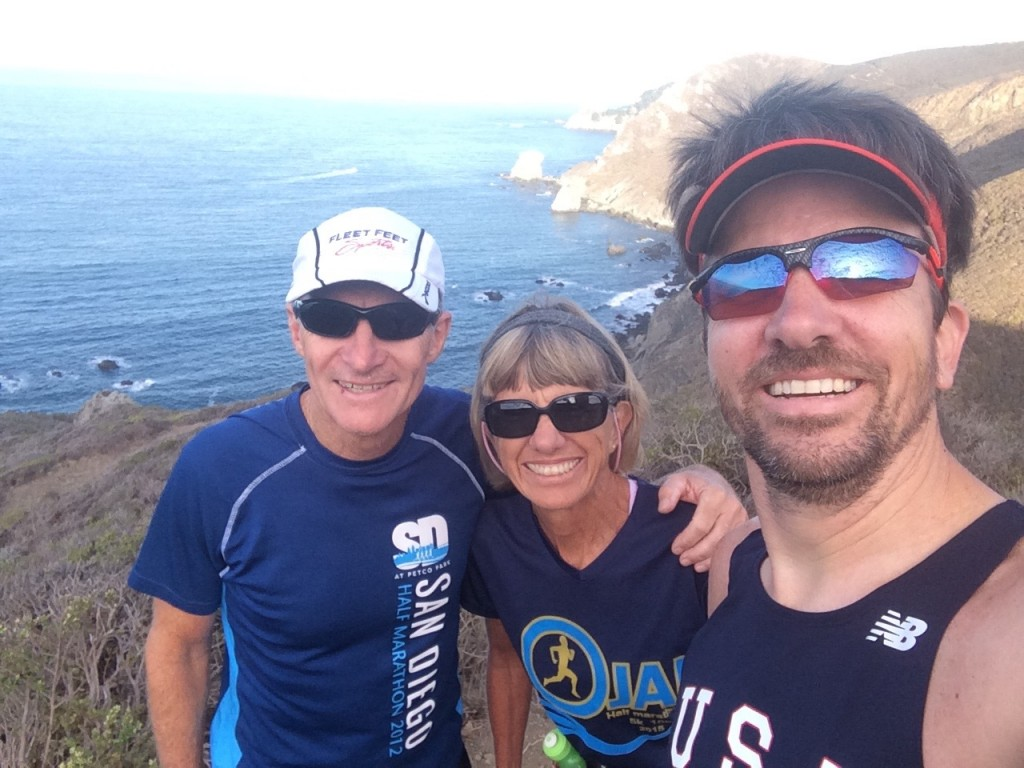 Dad, Mom, and me in Marin Headlands.