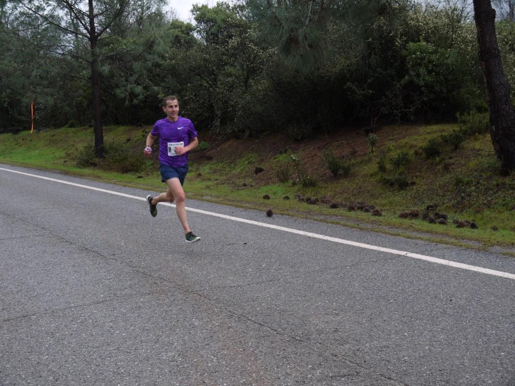 David Roche leading one mile in.