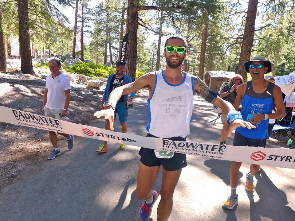 Michele Graglia at finish of Badwater.