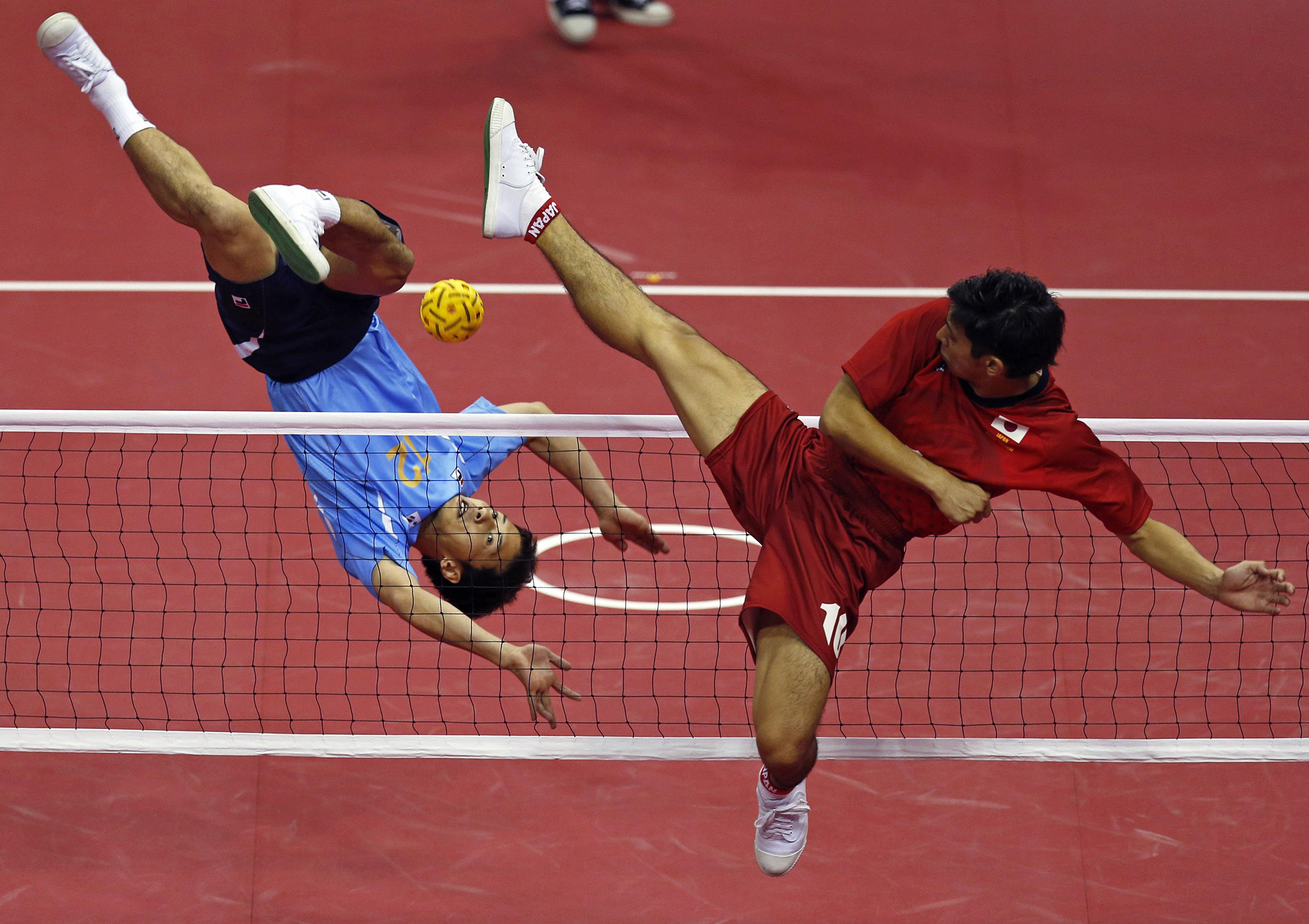 Sepak Takraw. My spellcheck hates it, but I love it.