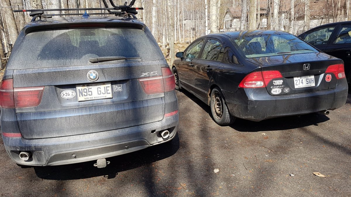 URP ultramarathon stickers on cars