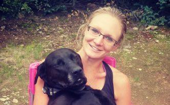Sabrina stanley and dog