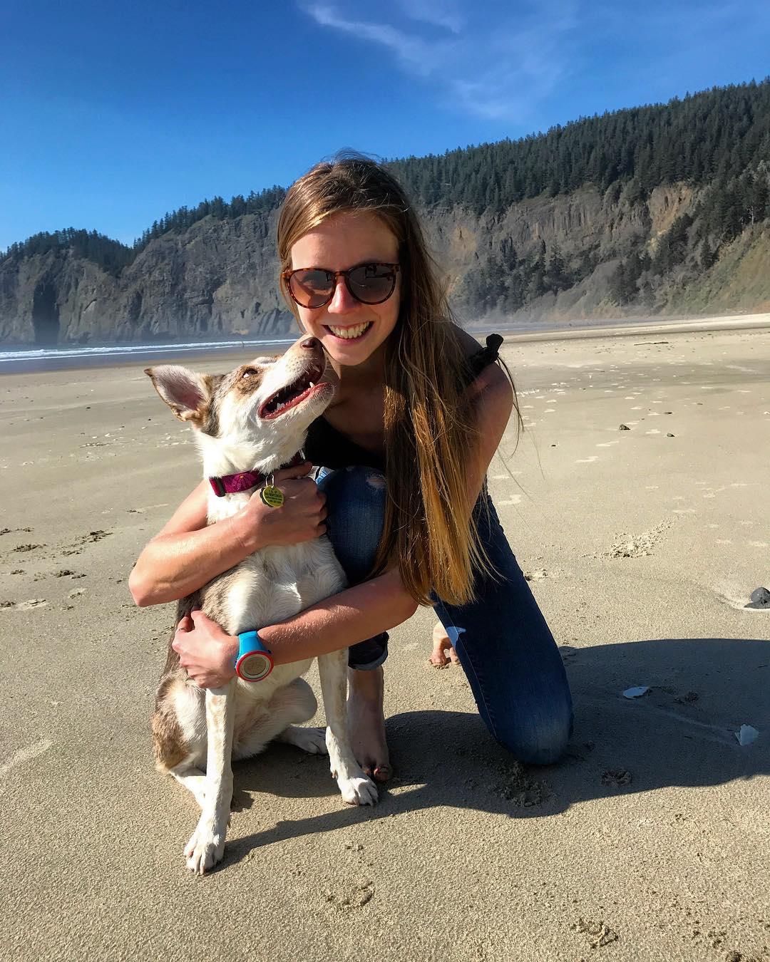 Keely Henninger and her dog