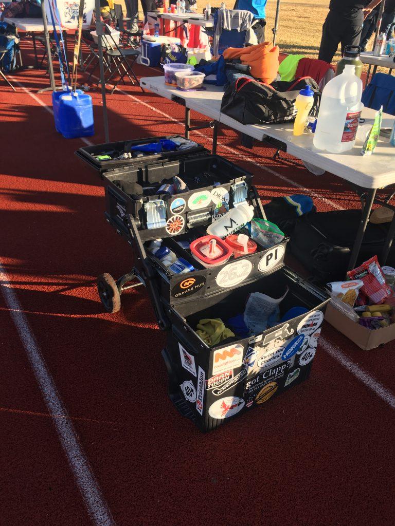 Ultramarathon aid station rig